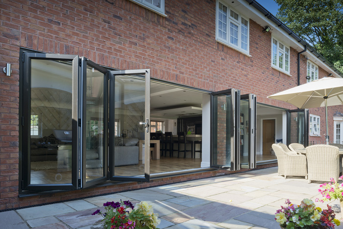 Bifolding doors partial